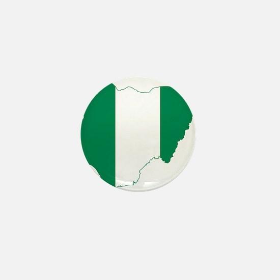 Nigeria Flag and Map Mini Button