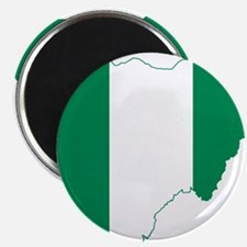 Nigeria Flag and Map Magnet