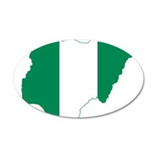 Nigeria Flag and Map Wall Decal