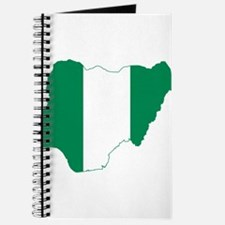 Nigeria Flag and Map Journal