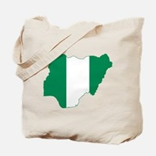Nigeria Flag and Map Tote Bag
