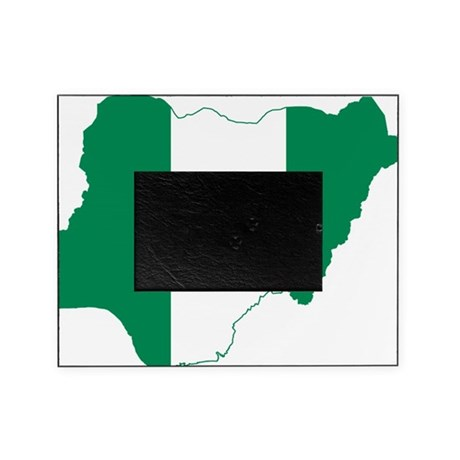 nigeria flag coloring page - nigeria flag and map picture frame by flagsandmaps