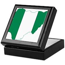 Nigeria Flag and Map Keepsake Box