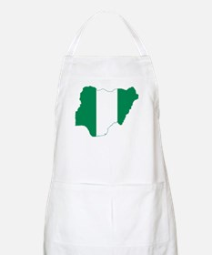 Nigeria Flag and Map Apron