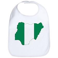 Nigeria Flag and Map Bib