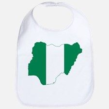 Nigeria Flag and Map Bib