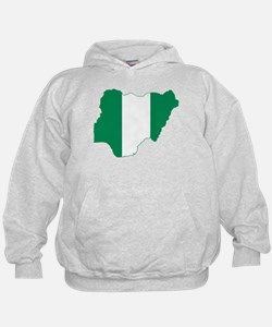 Nigeria Flag and Map Hoodie
