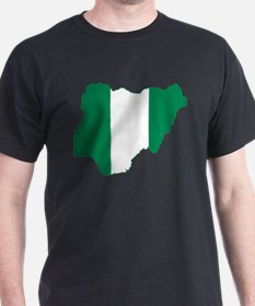 Nigeria Flag and Map T-Shirt