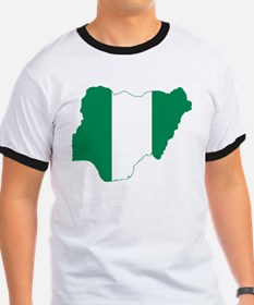 Nigeria Flag and Map T