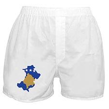 North Kosovo Flag and Map Boxer Shorts