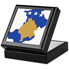 North Kosovo Flag and Map Keepsake Box