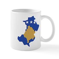 North Kosovo Flag and Map Mug