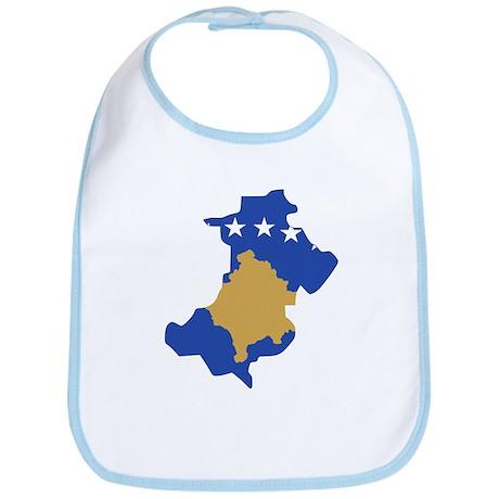 North Kosovo Flag and Map Bib