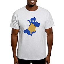 North Kosovo Flag and Map T-Shirt