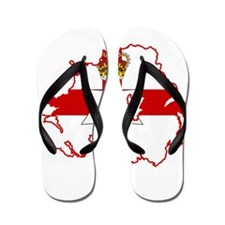 Northern Ireland Flag and Map Flip Flops