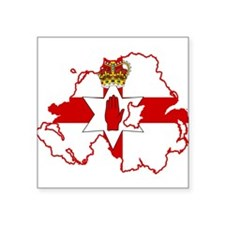 """Northern Ireland Flag and Map Square Sticker 3"""" x"""
