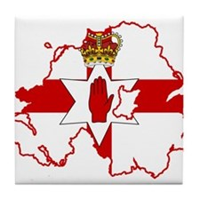 Northern Ireland Flag and Map Tile Coaster