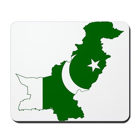 Pakistan Flag and Map Mousepad
