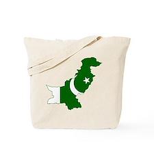 Pakistan Flag and Map Tote Bag