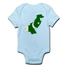 Pakistan Flag and Map Infant Bodysuit