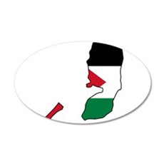 Palestine Flag and Map Wall Decal