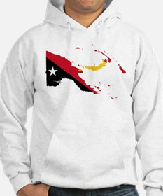 Papua New Guinea Flag and Map Hoodie