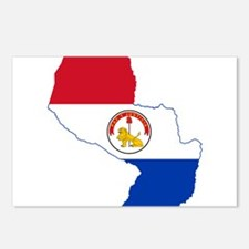 Paraguay Flag and Map Postcards (Package of 8)