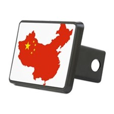China Flag and Map Hitch Cover