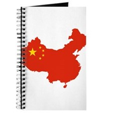 China Flag and Map Journal