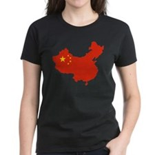 China Flag and Map Tee