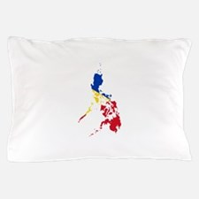 Philippines Flag and Map Pillow Case