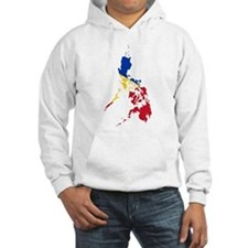 Philippines Flag and Map Hoodie