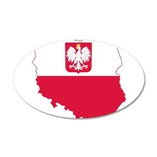 Poland State Ensign Flag and Map Wall Decal