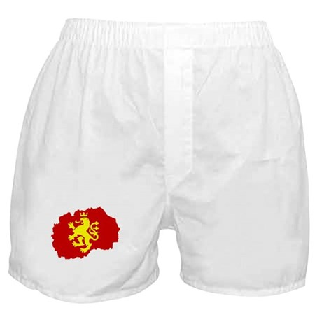Macedonia Lion Flag and Map Boxer Shorts