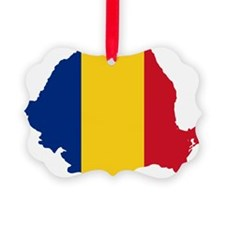 Romania Flag and Map Ornament