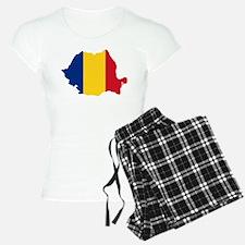 Romania Flag and Map Pajamas