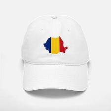 Romania Flag and Map Baseball Baseball Cap
