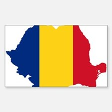 Romania Flag and Map Decal
