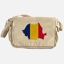 Romania Flag and Map Messenger Bag