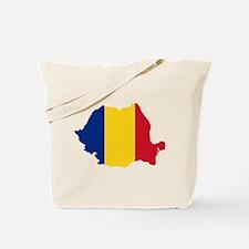 Romania Flag and Map Tote Bag
