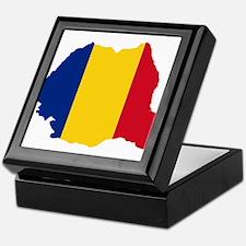 Romania Flag and Map Keepsake Box