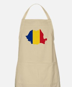Romania Flag and Map Apron