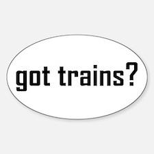 Got Trains Design Sticker (Oval)