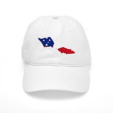 Samoa Flag and Map Baseball Cap