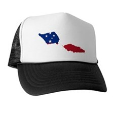 Samoa Flag and Map Trucker Hat