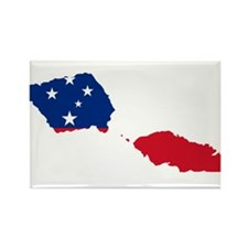 Samoa Flag and Map Rectangle Magnet