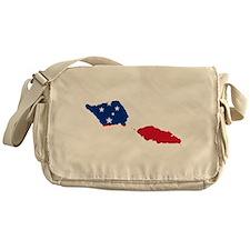 Samoa Flag and Map Messenger Bag