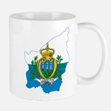 San Marino Flag and Map Mug