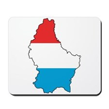 Flag Map of Luxembourg Mousepad