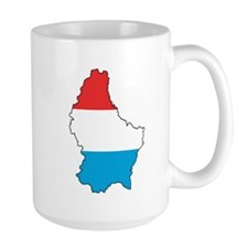Flag Map of Luxembourg Mug